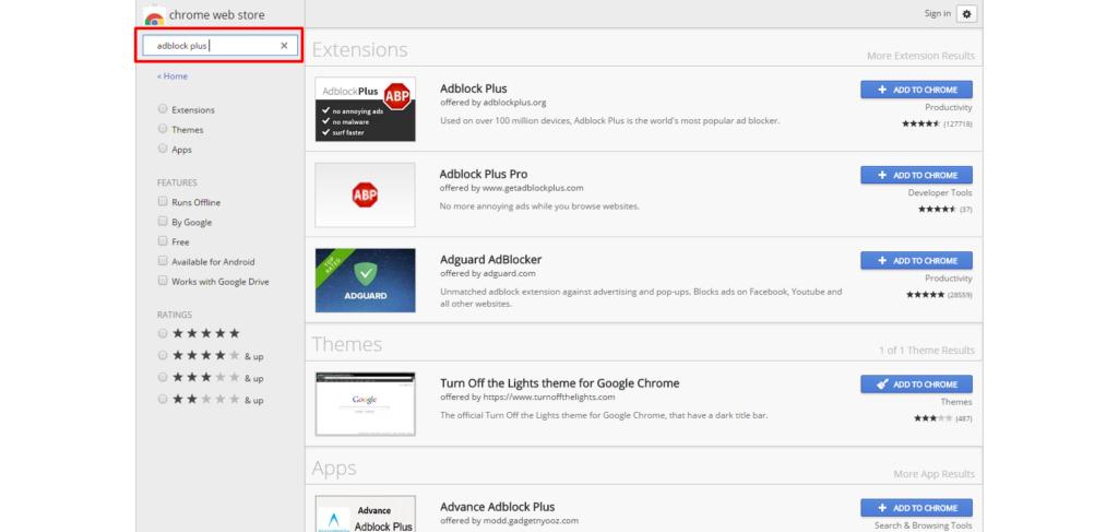 Add On Google Chrome Adblock