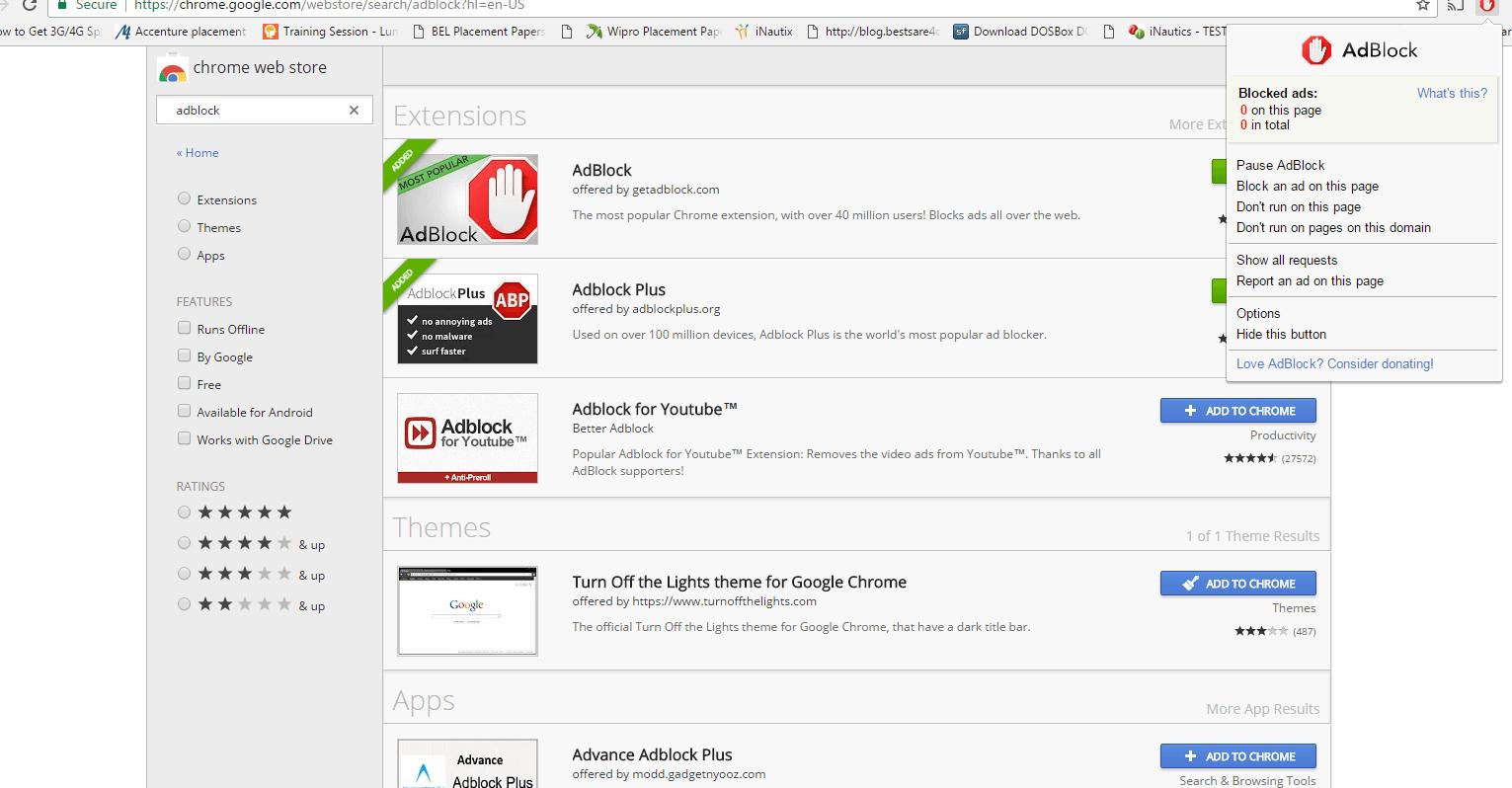 Adblock Chrome Setting