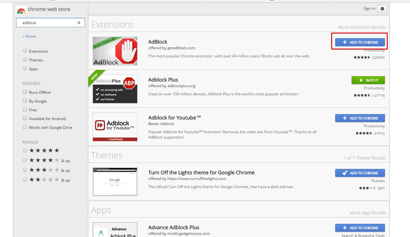 Chrome Extensions Adblock | CINEMAS 93