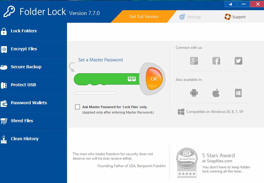 Folder Lock Download (  Latest) for Windows 10, 8, 7