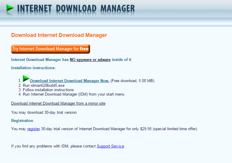 Internet Download Manager Official Download Page