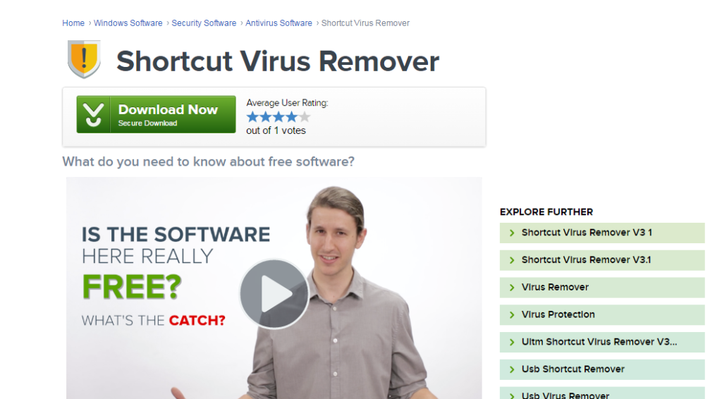Shortcut Virus Remover helps to remove shortcut virus from PC and Pen-drives