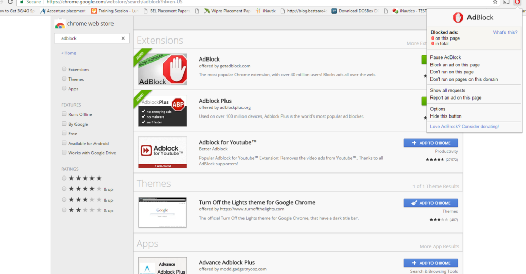 AdBlock extension has been added in your chrome