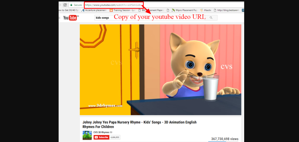 At first copy of You Tube Video URL