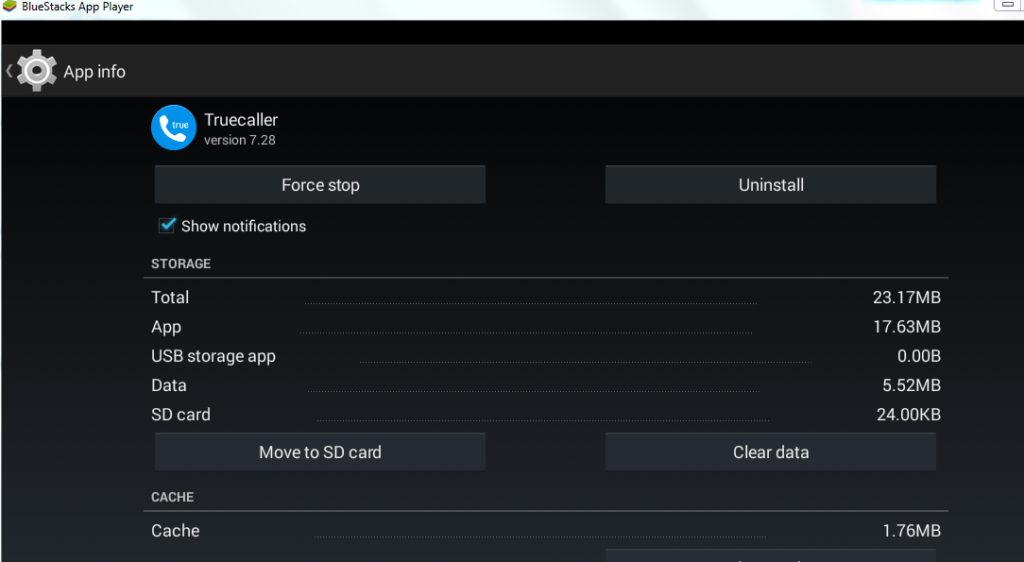 remove android application on bluestacks