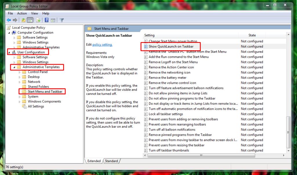 open start menu and taskbar