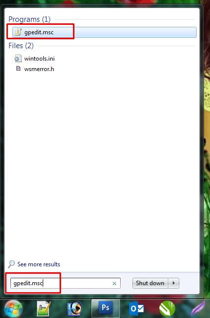 Type gpedit.msc of start menu