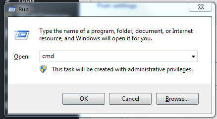 to run command prompt