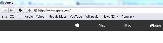 safari main page