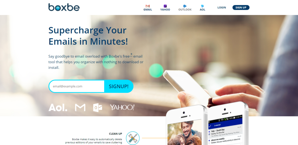 Boxbe Website Home page